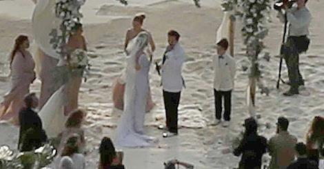 تصاویر لورفته جالب از عروسی جانی دپ و همسرش