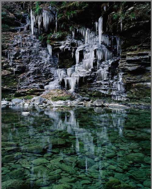 عکس های جالب آبشارهای یخ زده در کشور ژاپن