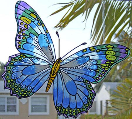 هنر جالب نقاشی بر پشت شیشه +عکس