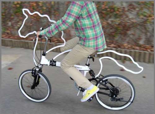 عکس های جالب دوچرخه شبیه به اسب تکشاخ