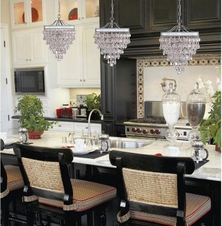 جدیدترین مدل های شیک لوستر آشپزخانه