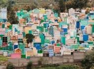 گورستان های شاد و رنگارنگ در گواتمالا +عکس