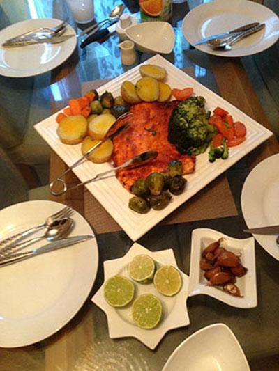 نحوه پخت فيله سالمون مخصوص شب عید