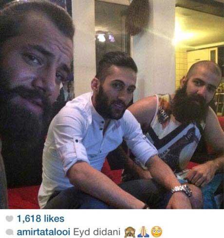 پیام صادقیان به عید دیدنی تتلو رفت! +عکس