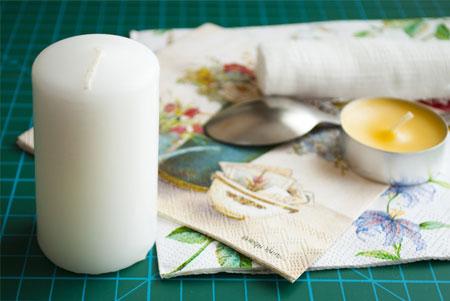 طریقه دکوپاژ و زیبا سازی شمع های ساده مخصوص هفت سین +عکس