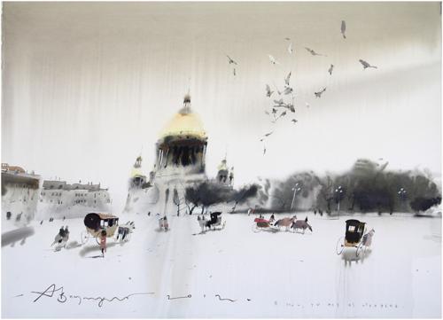 عکس های دیدنی نقاشی های سحرآمیز آبرنگ از الکساندر واتسماش