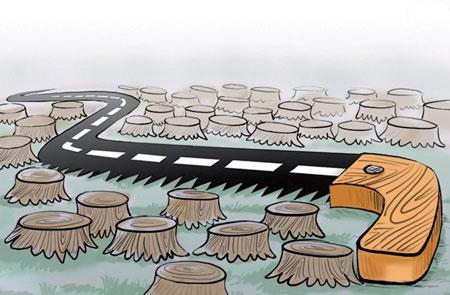 کاریکاتور جالب روز درختکاری