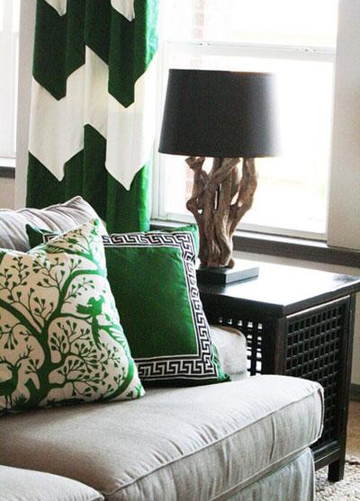 طرح دکوراسیون داخلی به رنگ سبز +عکس