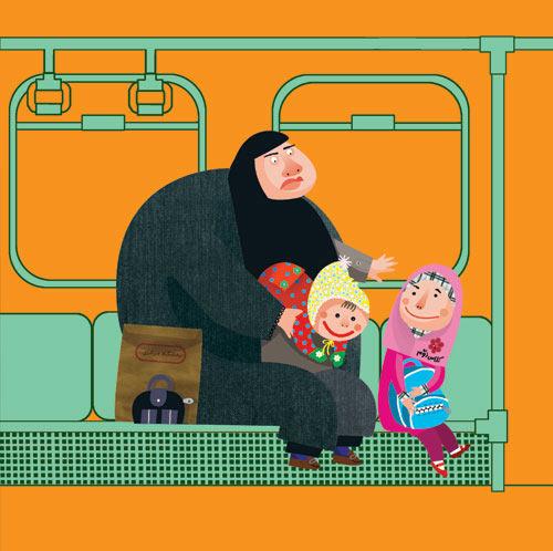 عکس های خنده دار دختر ایرانی در مترو تهران