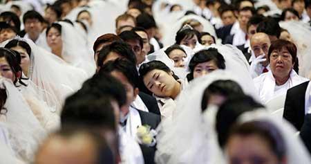 عکس های جالب ازدواج همزمان 3800 نفر در چین