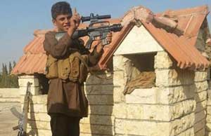 کم سن ترین نیروی داعش با نام شیرخوار انتحاری! +عکس