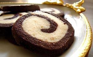 طرز تهیه شیرینی نوروزی، کوکیز دو رنگ مخصوص سال نو