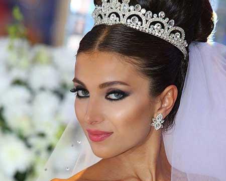 جدیدترین مدل های آرایش عروس سال 2015