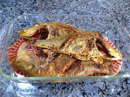 نحوه پخت ماهى و سبزيجات در فر مخصوص شب عید