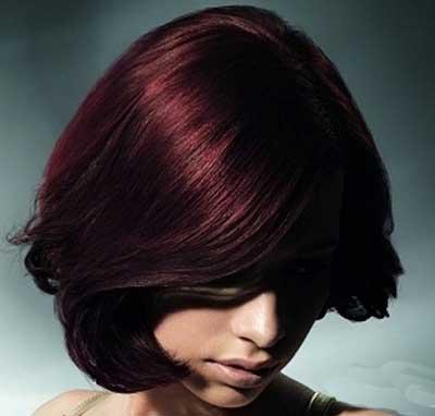 مدل های جالب مو و رنگ موی عنابی سال جدید