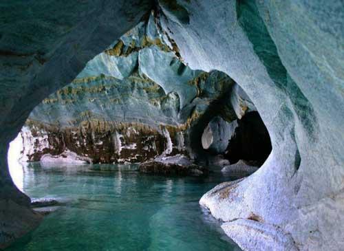عکس های خارق العاد از غارهای سنگ مرمر