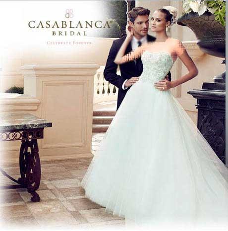 مدل های جدید لباس عروسهای شیک و کازابلانکا برای سال 2015