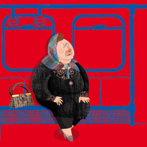 ع های خنده دار دختر ایرانی در مترو تهران