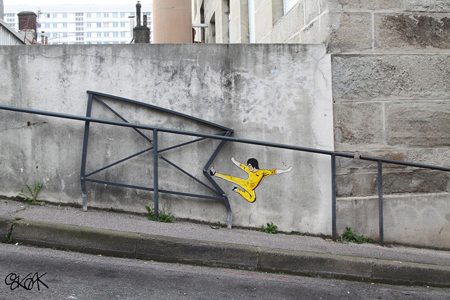 عکس های جالب نقاشی خیابانی خلاقانه