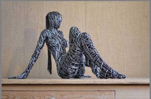 عکس های جالب مجسمه های سیمی انسان