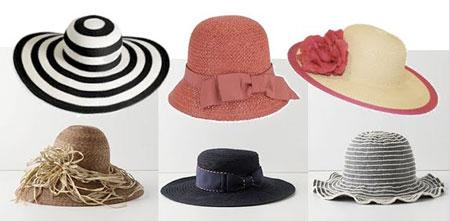 انواع مدل های کلاه تابستانی 2015