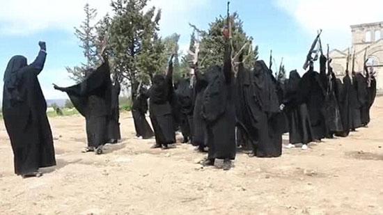 گروهان زنان تروریست داعش! +عکس