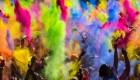 آیین و تصاویر رنگارنگ جشن هولی 2015 در هند