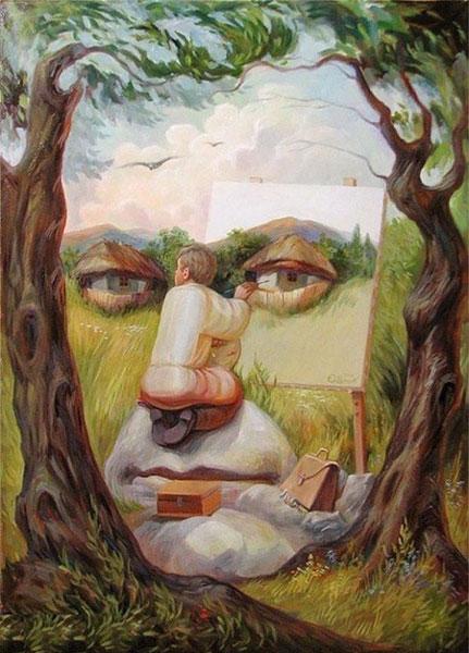نقاشی های جالب با مضمون خطای دید