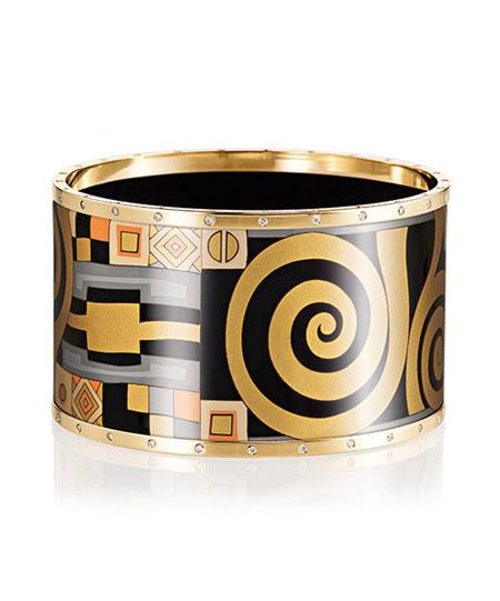 مدل زیور آلات طلا رنگی طرح بهاره برند Freywille