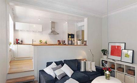 دیزاین داخلی برای بزرگ نمایی آپارتمان های کوچک (+عکس)