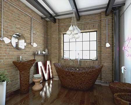 سرویس بهداشتی و استحمام شکلاتی شیک
