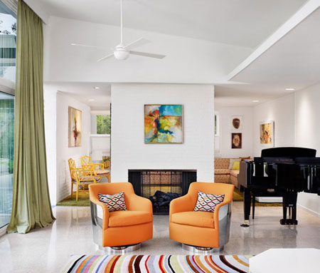 مبلمان رنگى تحولى زيبا در طرح دكوراسيون داخلى منزل!