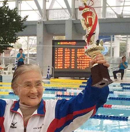 این خانم 100 ساله ژاپنی رکورد دنیا را شکست +عکس