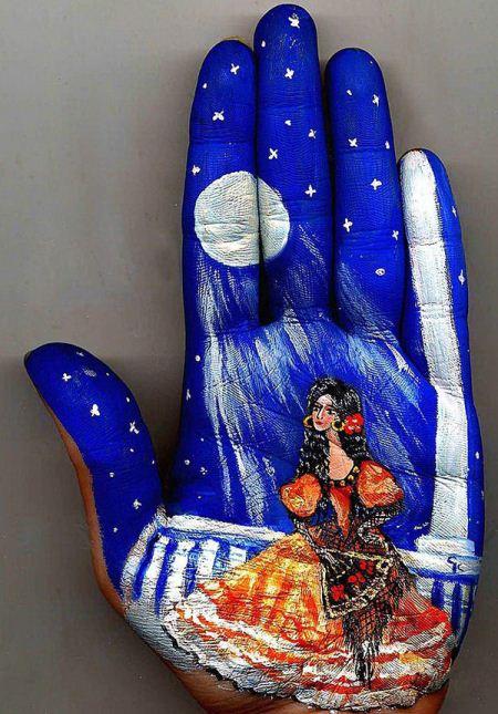 نقاشی های خارق العاده روی دستان زیبا
