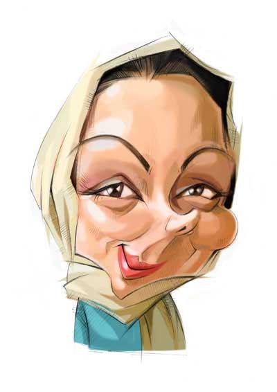 کاریکاتور چهره های معروف اثر کاریکاتوریست ناشنوا علیرضا باقری