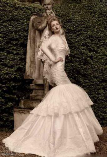 شیک ترین مدل لباس عروس دنباله دار  ۲۰۱۵