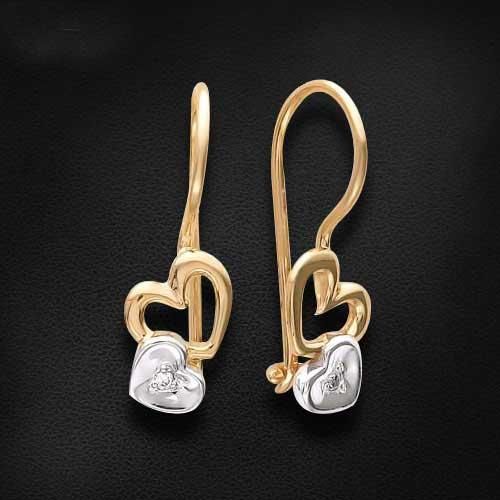 انواع مدل های جدید گوشواره طلا زنانه و دخترانه 2015