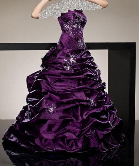 مدل لباس های نامزدی طرح موج رنگی 94