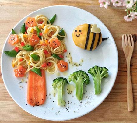 تزیین های خلاقانه و اشتها بر انگیز غذای کودک