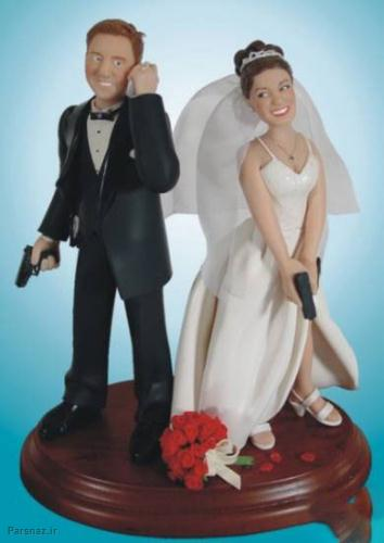 کیک های عروسی خنده دار با نماد زن زلیلی