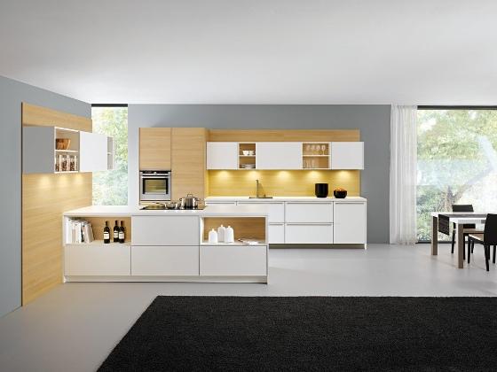 دکوراسیون آشپزخانه طرح کلاسیک رنگ مات