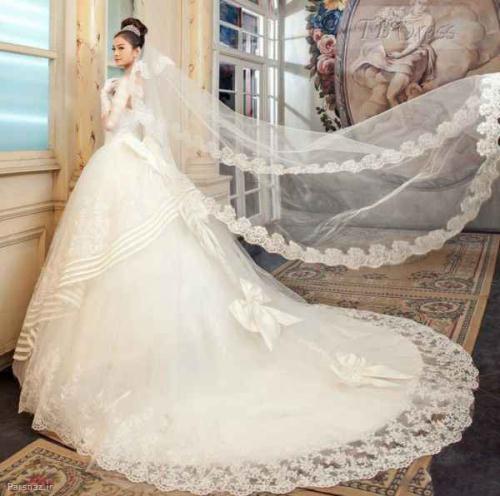 جدیدترین و بهترین و شیک ترین مدل های لباس عروس دنباله دار مخصوص شب عروسی