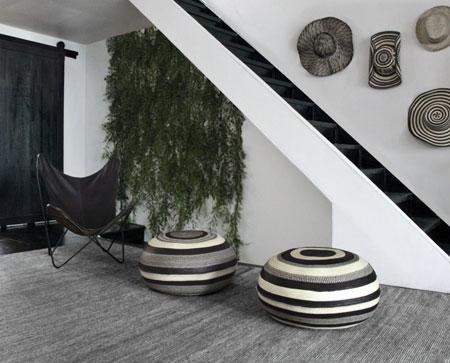 دکوراسیون خانه به وسیله جاجیم های سیاه و سفید