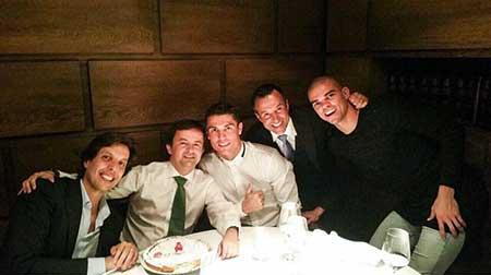 شام کریس رونالدو در جشن تولد دوستش +عکس