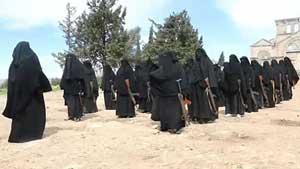 گروهان زنان تروریست داعش!  عکس