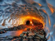 تصاویر غار یخی شگفت انگیز در چهار مهال بختیاری