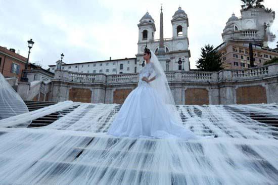 دوخت لباس عروسی 3 کیلومتری