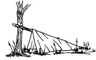 چطور در سفر یک سرپناه بسازیم؟