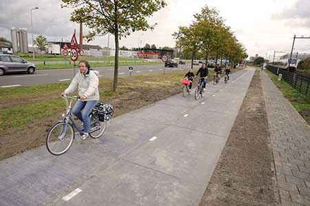 جاده ای در هلند که تولید برق می کند
