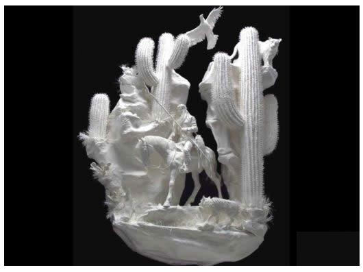 مجسمه های کاغذی زیبا مجموعه آثار هنری پتی و آلن اگمن